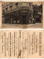 CPA Pharmacie des Bains. Carte publicite (378295)