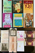 Greeting Cards Assorted Papyrus Hallmark Etc. Lot Of 16 Retail $90