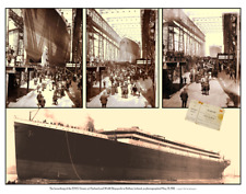 Launch of the Titanic Poster 22 x 28