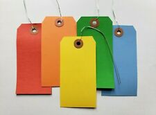 100 Tags 4 34 X 2 38 Size 5 Large Colored Shipping Hang With Wire Strung
