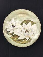 "WATERLOO 11"" Magnolia Hand Painted Deep Plate"