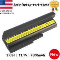 6/9 Cell Battery for IBM Lenovo Thinkpad T60 T61 Z60 Z61 R60 R61 SL300 SL500 LOT