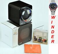 Add-On BOXY CARBON FIBRE LOOK Fancy Brick Single Automatic Watch Winder-1FB-CF-S