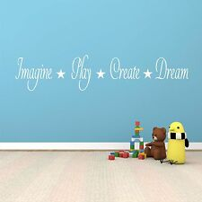 Imagine, Play, Create, Dream - Wall Art Decal Stickers Quality New