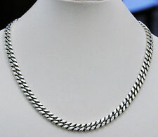 DAVID YURMAN NEW Mens 9.5mm Sterling Silver Curb Chain Necklace 22""