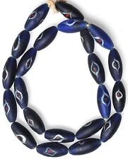 """24"""" Strand Large Cobalt Blue Eye Beads from the African Trade"""