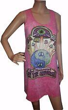 Yoga Mini Dress tunic sleeveless Magic Mushrooms Retro Rock Zen NO TIME Hippie M