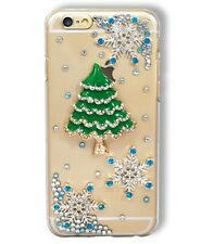 Christmas Tree Snowflake Rhinestone Diamante Clear Phone Case for iPhone 6 6S 5C