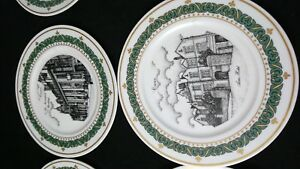 Set of six exclusive collection display plates of crewe by genald Swan