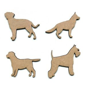 Wooden MDF Dog Schnauzer Labrador Alsatian Shape Embellishment Decoration Shapes