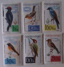 Czechoslovakia Stamp 1267-72  MNH Cat $12.00 Bird Topical