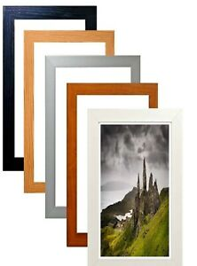 Wood Picture Frame Acrylic Glass Black Poster Frame White Dark Oak Photo Frames