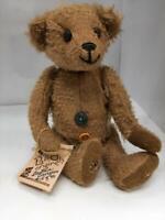 "Rare Vintage 9"" Mohair Teddy Bear by Artist Barbara Bronzino #15/40"