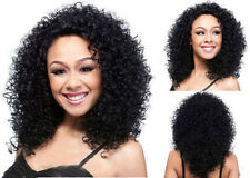 Natural Look Synthetic Hair Long Curly Black Afro Wig For African American Women