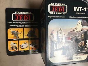 Vintage Star Wars 1983  MECCANO/CLIPPER INT-4 MISB ROTJ Mini Rig Unused NRFB