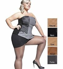 Plus Size Tights Kiara 20 Denier With Special Comfortable Gusset Sizes L to 4xl Beige 4 / L