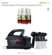 MaxiMist Evolution TNT Pro Spray Tan System w/ FREE Sunless Solutions used once