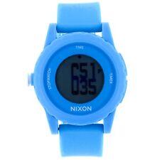 Nixon Women's Genie A326917 Blue Silicone Quartz Digital Sport Watch
