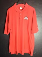 Nike Ohio State Dry Fit Golf Shirt XL Red