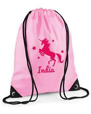 Personalised Unicorn Swimming Bag/PE Bag, Pink/Purple/Red/Blue, Water-resistant