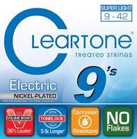 Cleartone 9409 Nickel Plated Electric Guitar Strings, Super Light Gauge, 9-42