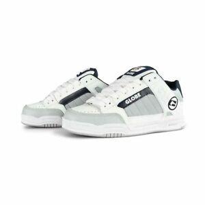 Globe Men's Tilt White/Grey/Navy Skate Shoes Trainers UK 7 EU 40.5