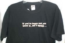 PSYCHOLOGY IF YOU'RE HAPPY AND YOU KNOW IT SEE A SHRINK T SHIRT XL NEW W/TAG