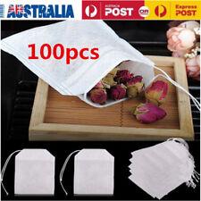 100pcs Non-woven Cloth Empty Tea Bag Heat Sealing Filter Paper Clean Loose