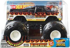 Hot Wheels 1:24 Scale Monster Trucks Bigfoot Die Cast Vehicle for Power Wheels!