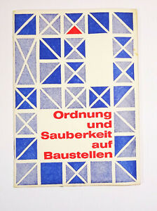 DDR Arbeitsschutz Ordnung und Sauberkeit auf Baustellen 1965 FDGB (H9