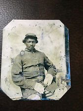 Civil War African American Union Soldier tintype #C819RP