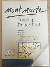 2x Mont Marte A4 Tracing Paper Pad Artist Sketching & Overlays Drawing Art