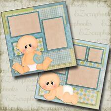 BABY BOY - Premade Scrapbook Pages - EZ Layout 421