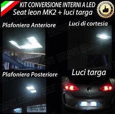 KIT LED INTERNI SEAT LEON 1P MK2 CONVERSIONE COMPLETA + LED TARGA CANBUS 6000K