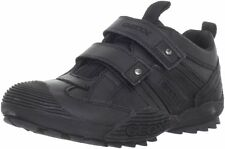 Geox Black Secure Strap Leather Sneakers/Shoes   Youth Boys Size 6