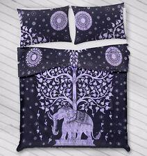 Indian Elephant Tree Queen Size Duvet Quilt Cover Comforter Blanket Doona Set