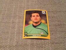 #488 JULIO CESAR BRASILE PANINI WORLD CUP 2010 Oro Edizione Svizzera Adesivo Inter