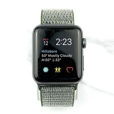 Apple Watch Series 2 42mm Space Gray Aluminum Case with Olive Nylon Loop