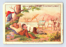 1890s Antique BARON LIEBIG MEAT EXTRACT Victorian ARTIST PAINTER Trade Card