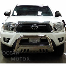 "2005-2015 TOYOTA TACOMA Stainless Steel 3"" BULL BAR GRILLE GUARD With Skid Plate"