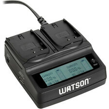 Watson Duo LCD Charger with 2 D-Li90 Battery Plates