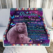 Bear To My Daughter Sofa Throw Quilt