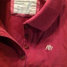 Girl's Aeropostale Polo Shirt Size Small P Short Sleeve Burgandy