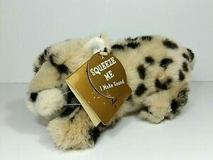 Dakin Huggables CHATWIN CHEETAH Baby Cub Plush Stuffed Animal Sounds w Tags 10""