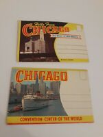 Collectible Vintage Chicago Illinois Postcard Booklet Unused Lot of 2