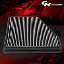 SILVER REUSABLE ENGINE DROP-IN PANEL AIR FILTER FOR 10-15 CHEVY CAMARO 3.6L/6.2L