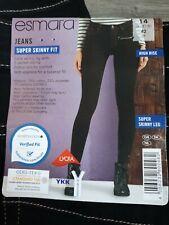 Ladies EX-Esmara Donna Super Skinny Spandex strachy laggins Inferiore Pantaloni NUOVO CON ETICHETTA