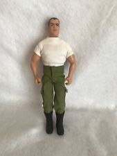 "Vintage G.I. Joe 1992 Hasbro 12"" Action Figure Brown Hair Scar on Face Army"