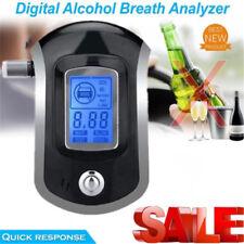 Breath Alcohol Tester Police Digital LCD Breathalyzer Analyzer with 5 Mouthpiece
