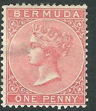Bermuda 1865 pale-rose 1d crown CC mint  SG2